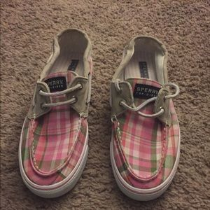 $22 Sperry Women Canvas Plaid 🛶Shoes BARELY WORN